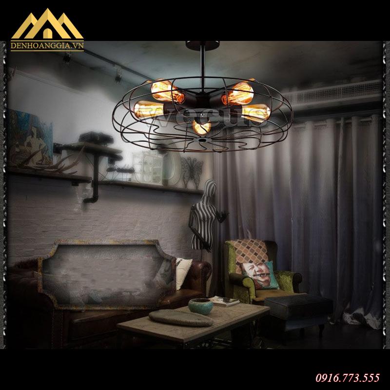 Ứng dụng đèn thả trần hình quạt HGA-TH523-MC