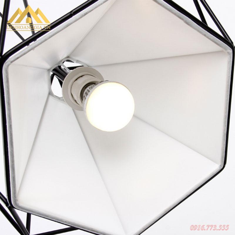 Đèn thả trần kim cương HGA-TH007 sử dụng đèn búp đui E27