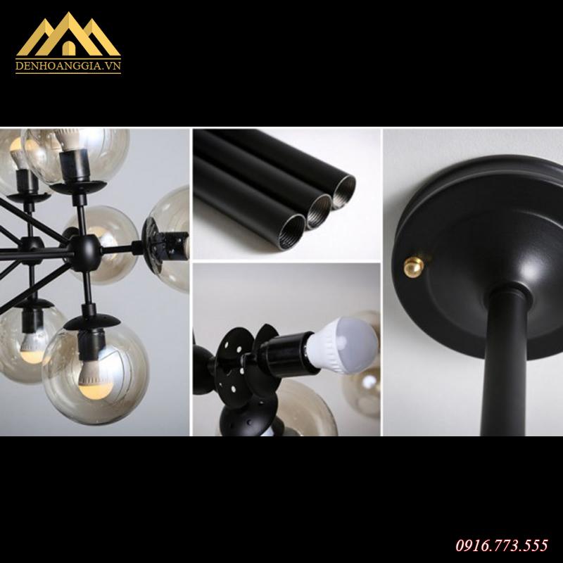 Cấu tạo của đèn thả trần trang trí Rolux-THĐ040