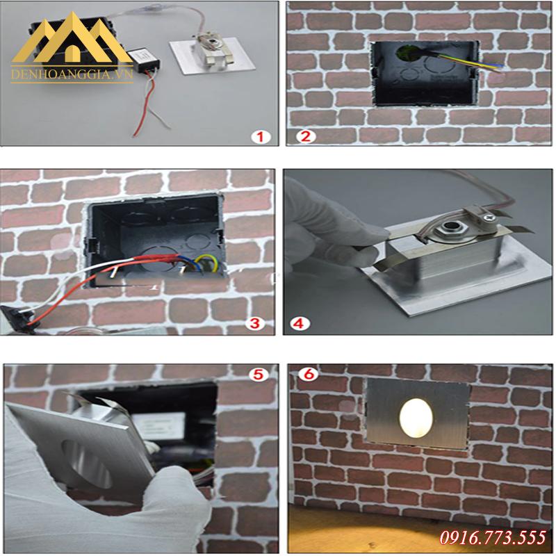 Hướng dẫn lắp đặt đèn led chân cầu thang