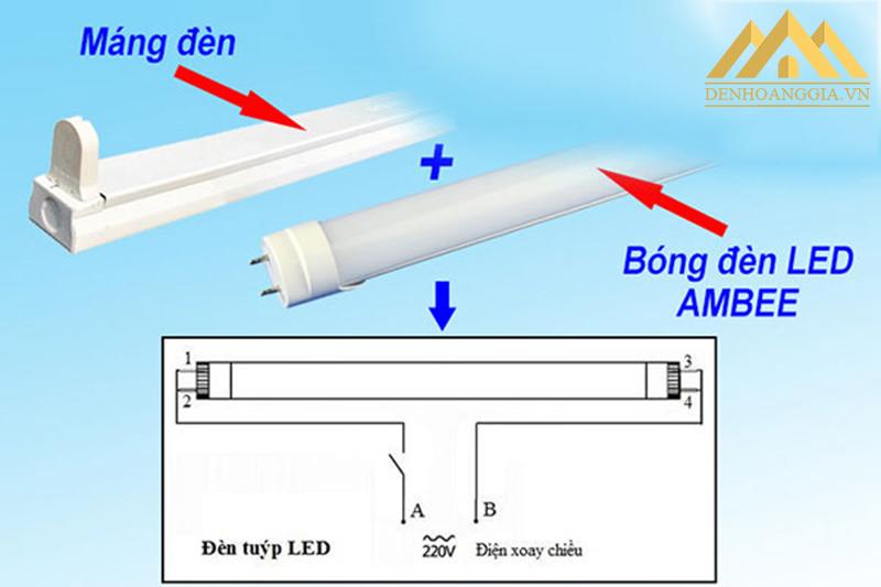 Hướng dẫn cách lắp đặt máng đèn tuýp led