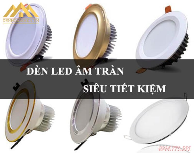 Các mẫu đèn led âm trần lắp ở phòng khách tại khu đô thị Thanh Hà