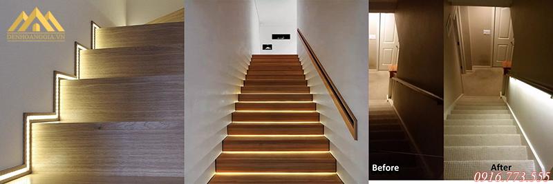 Thiết kế hệ thống đèn led cho khu vực cầu thang