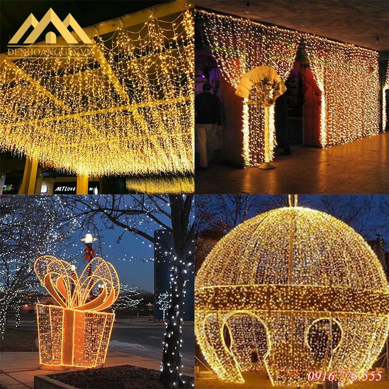 Đèn led rèm - mành thiết kế theo nhiều kiểu dáng và kích thước khác nhau