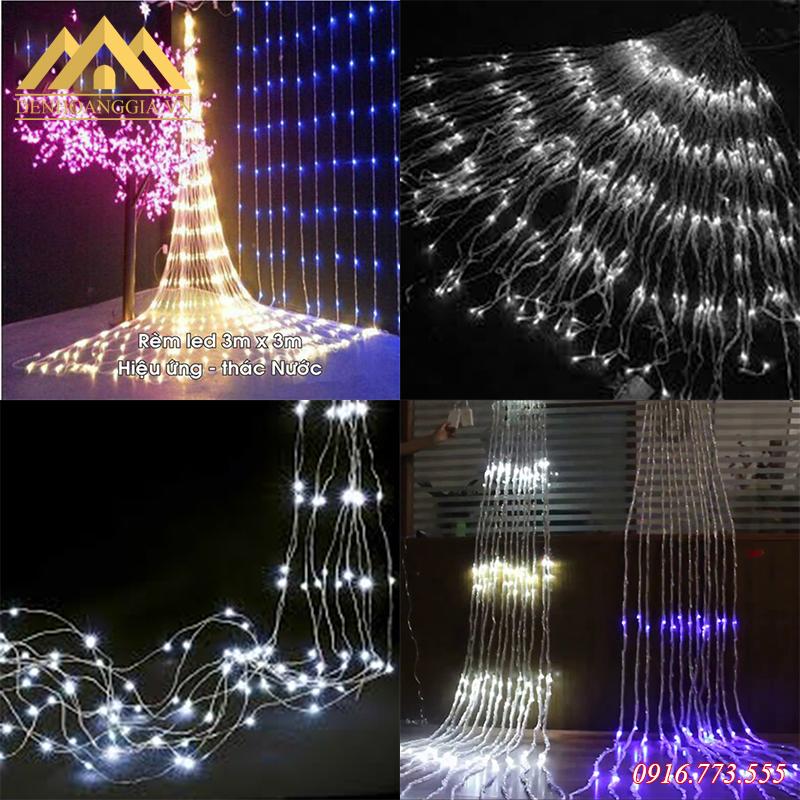 Đèn led rèm – mành hình thác nước