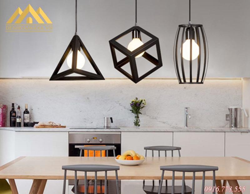 Thiết kế hệ thống đèn led thả trần ở khu vực bàn ăn