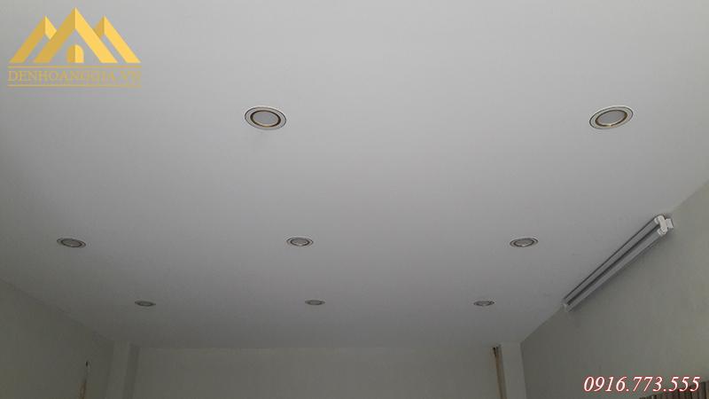 Khoảng cách lắp đặt đèn led âm trần tại chung cư KĐT Thanh Hà