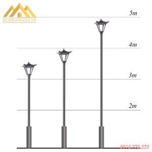 Kích thước cột đèn trụ sân vườn HGA-TSV58