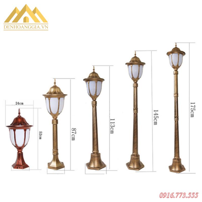Đèn trụ cột sân vườn HGA-TSV57 đa dạng kích thước