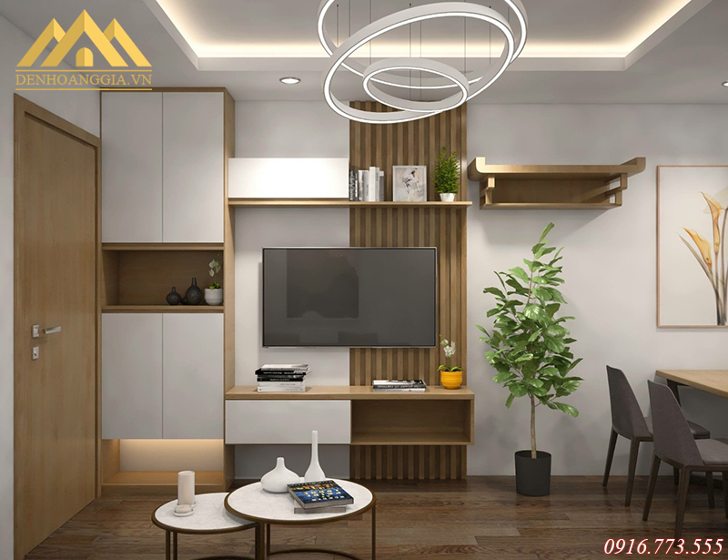 Phòng khách ở chung cư Khu đô thị Thanh Hà