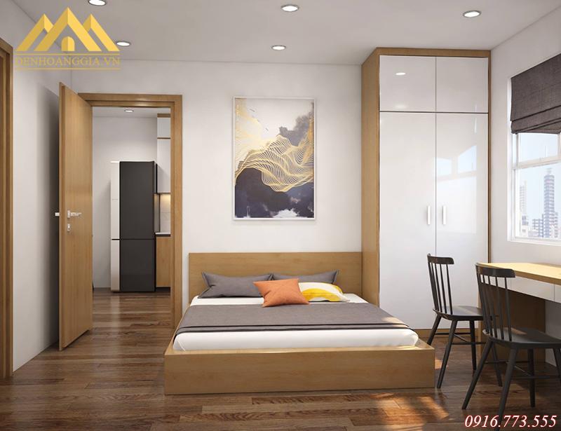 Lắp dặt đèn led ở phòng ngủ tại các chung cư KĐT Thanh Hà