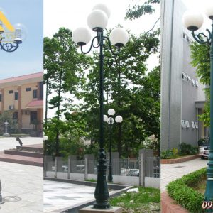 Ứng dụng cột đèn trụ sân vườn HGA-DC06