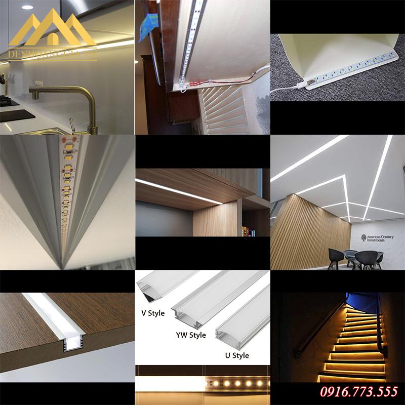 Đèn led thanh có thể lắp đặt được cho mọi không gian