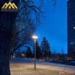 Ứng dụng đèn trụ sân vườn HGA-TSV17 chiếu sáng đường phố
