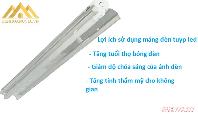 Một số ưu điểm của máng đèn tuýp led chóa inox phản quang