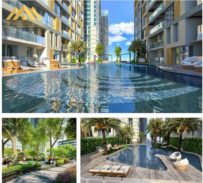 Không gian bể bơi bốn mùa tại chung cư Goldseaason 47 Nguyễn Tuân