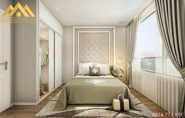 Phòng ngủ nên bố trí hệ thống ánh sáng đơn giản