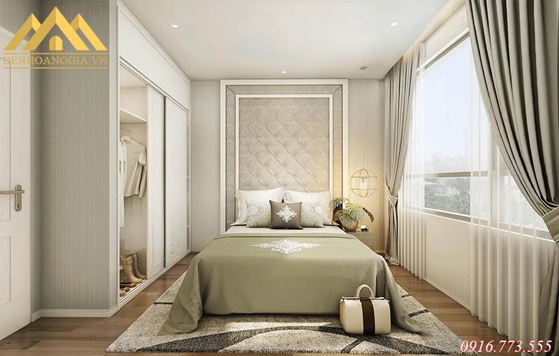 Phòng ngủ sử dụng đèn led âm trần để chiếu sáng