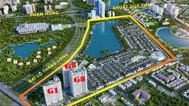 Quy mô của dự án khu đô thị Vinhomes Green Bay Mễ Trì