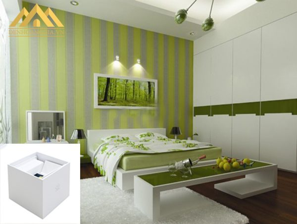 Lắp đặt đèn tường led ở không gian phòng ngủ