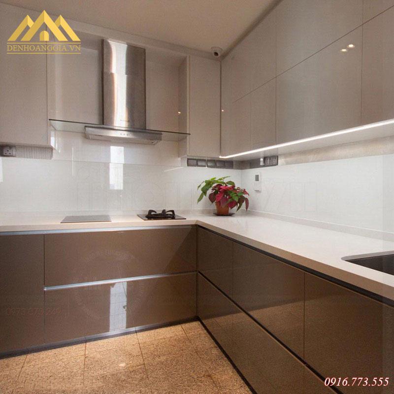 Thiết kế đèn led sử dụng cho tủ bếp