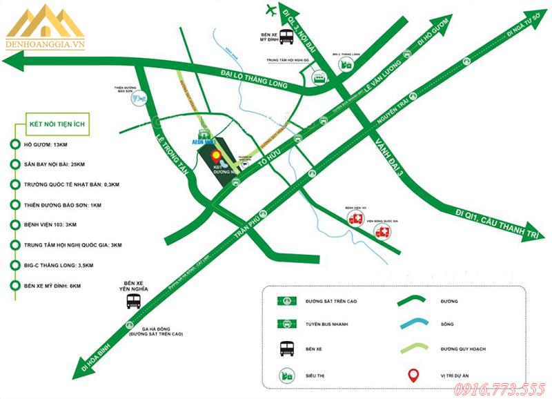 Vị trí của khu đô thị Dương Nội - Hà Đông