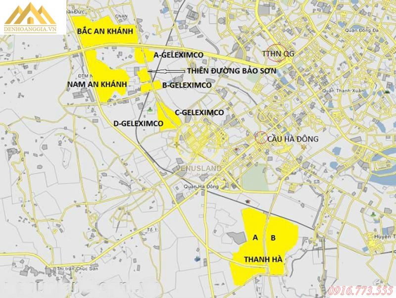 Vị trí của khu đô thị Geleximco Lê Trọng Tấn