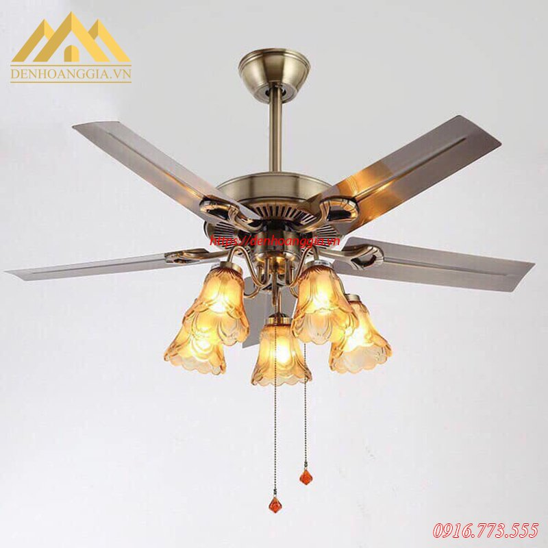 Quạt trần đèn trang trí HGA-QDT102
