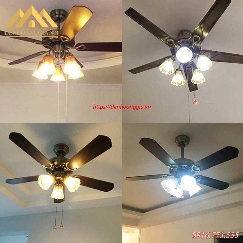 Ánh sáng của quạt trần đèn HGA-QTD-102
