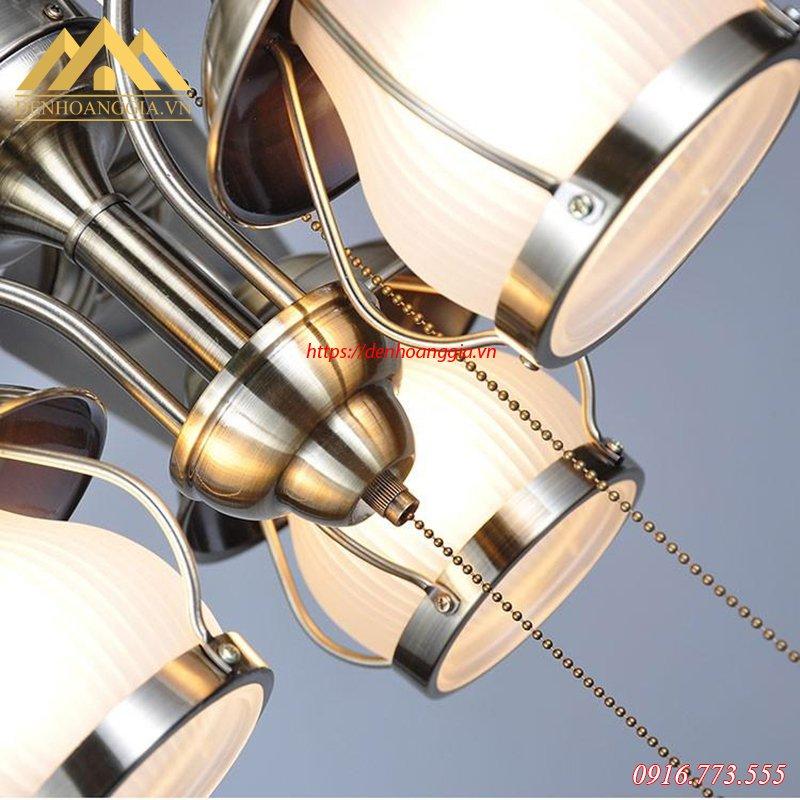 Đèn quạt trần trang trí HGA-QTD-104