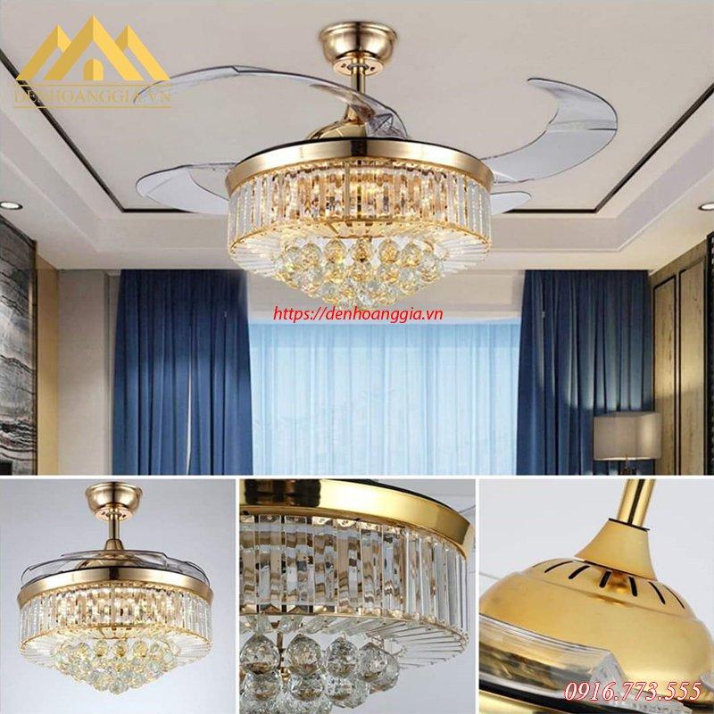 Quạt đèn trần trang trí HGA-QTD-9010