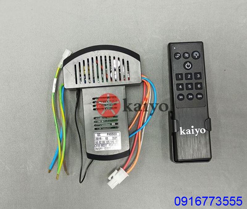 Bộ điều khiền từ xa của đèn quạt trần Kaiyo IWA-218 3 cánh Nhật Bản