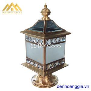 Đèn trụ cổng bằng đồng Rolux-TCD06