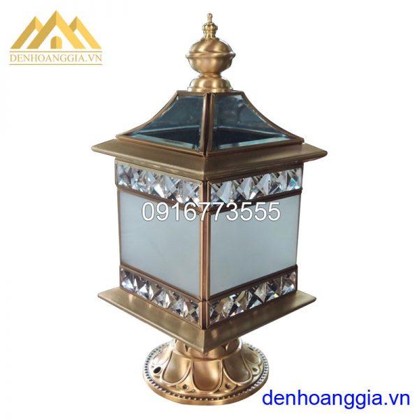 Đèn trụ cổng bằng đồng HGA-TCD06