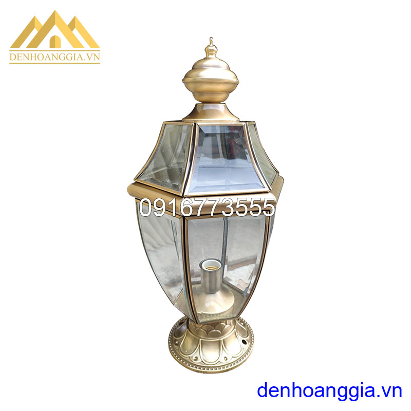 Đèn trụ cổng bằng đồng HGA-TCD10