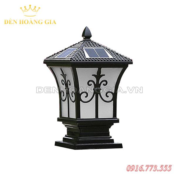 Đèn trụ cổng năng lượng mặt trời HGA-TCNL13 (Nhôm) màu đen