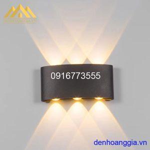 Đèn tường led 6w ngoài trời vỏ đen Rolux-DTD16