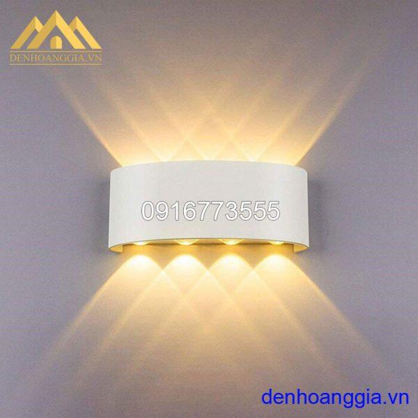 Đèn tường led 8w ngoài trời vỏ trắng Rolux-DTT18