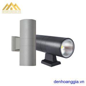 Đèn tường led 2x7w ngoài trời vỏ đen Rolux-DT1460