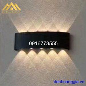 Đèn tường led 10w ngoài trời vỏ đen Rolux-DTD19