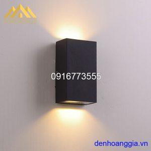 Đèn tường led 10w ngoài trời vỏ đen Rolux-DTD22