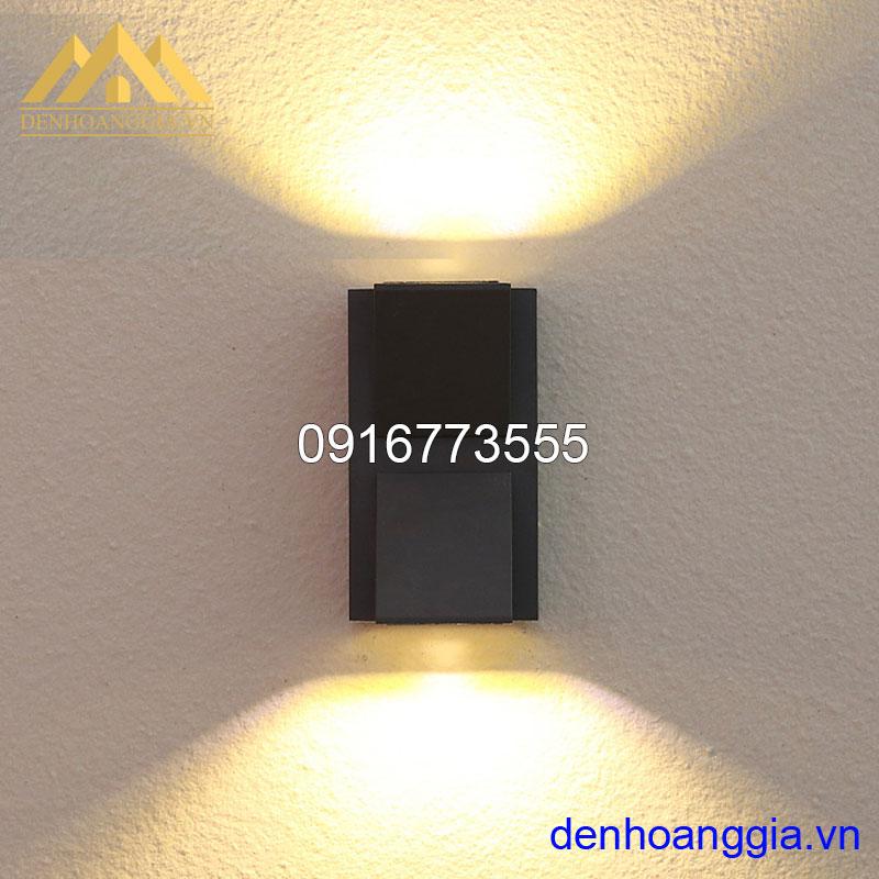 Đèn tường led 10w ngoài trời vỏ đen Rolux-DTD25