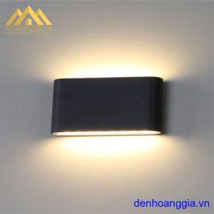 Đèn tường led 12w ngoài trời vỏ đen Rolux-DTD30