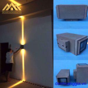 Đèn tường led 2x10w ngoài trời vỏ ghi Rolux-DTSD60