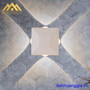 Đèn tường led 12w ngoài trời vỏ trắng Rolux-DTT33