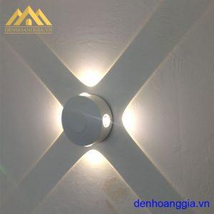 Đèn tường led 12w ngoài trời vỏ trắng Rolux-DTT34