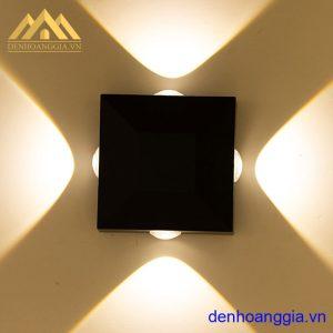 Đèn tường led 12w ngoài trời vỏ đen Rolux-DTD33