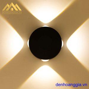 Đèn tường led 12w ngoài trời vỏ đen Rolux-DTD34