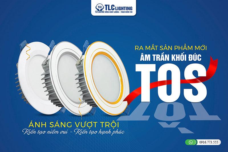 Bộ 3 sản phẩm đèn led âm trần khối đúc TOS TLC