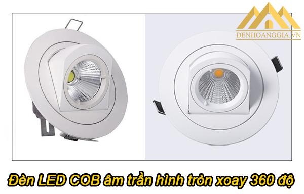 Đèn Spotlight âm trần hình tròn xoay 360 độ